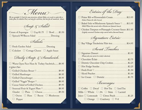 formal dinner menu ideas formal casual dining m bay of sarasota