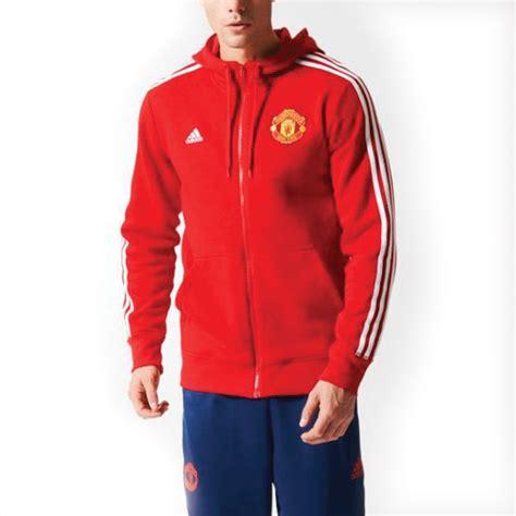 Hoodies Zipper Manchester United Merah Chevrolet adidas s manchester united 3 stripe hooded jacket mufc hoodie football ebay