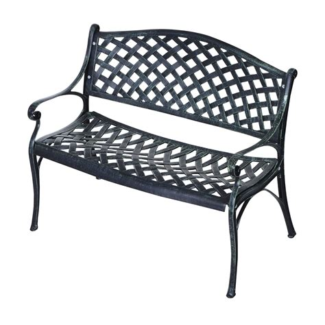 garden bench clearance outsunny 40 quot grid pattern decorative outdoor garden bench