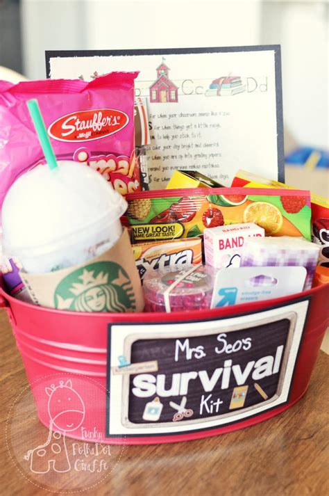 gifts for classroom gift packaging ideas back to school survival kit