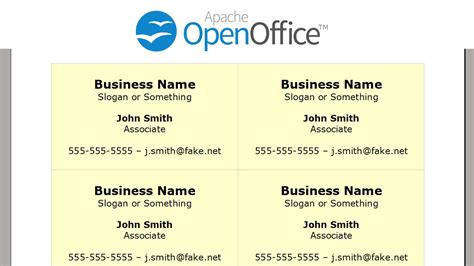 Openoffice Business Card Template Synchronize With What by Business Card Template Open Office Best Templates Ideas
