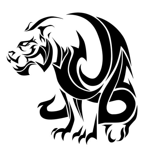 tribal tiger tattoo meaning tiger tribal style by vision deviantart on