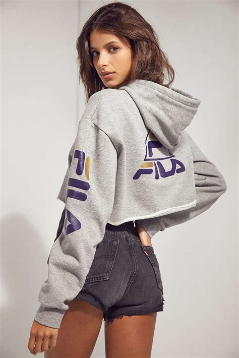 So Crop Hoodie Jaket new fila outfitters basketball collection for and