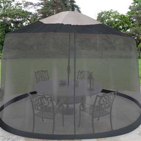 Patio Umbrella With Screen Enclosure 7 5 Foot Umbrella Table Screen Just 19 96 Reg 39 99 Mojosavings