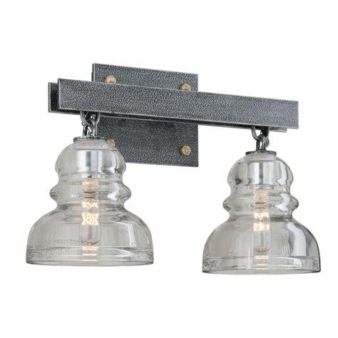 troy lighting menlo park troy lighting menlo park 2 light silver vanity light