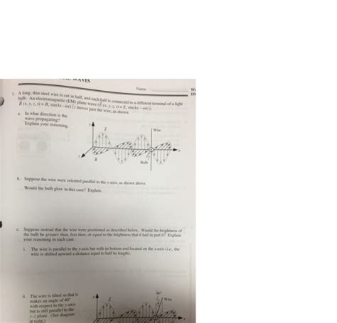 tutorial questions on electromagnetism solved electromagnetic waves physics tutorial please gi
