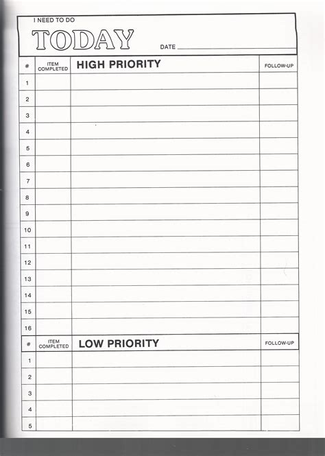 priority list template office to do list template packaging slips how to make