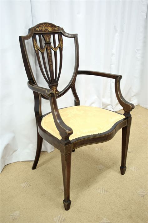 edwardian inlaid bedroom chair for sale antiques com