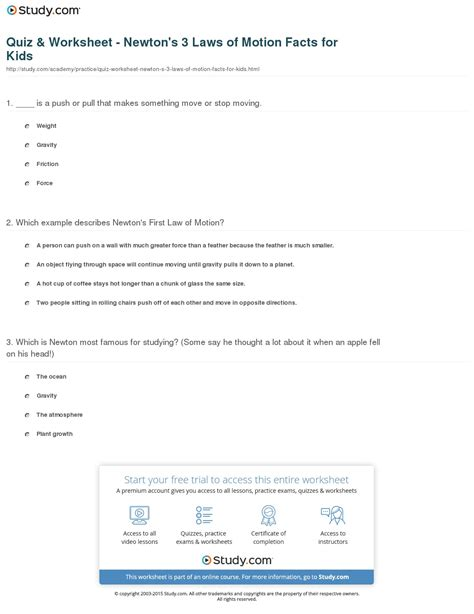 Pdf Three Laws Of Motion by 3 Laws Of Motion Worksheet Breadandhearth