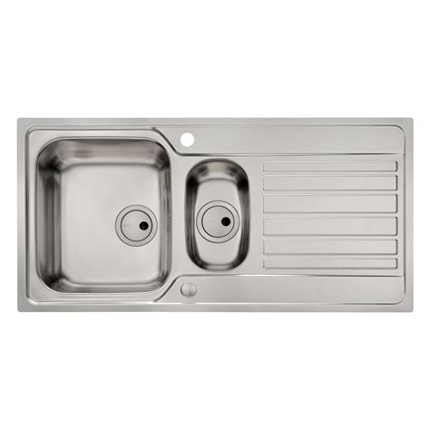 flush kitchen sink abode connekt flush fit 1 5 bowl kitchen sink sinks taps