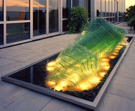 Beleuchteter Nachttisch by Dachterrasse Gestaltung Mit Teichbecken Und Beleuchteter