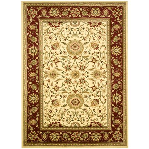 Machine Made Area Rugs Shop Safavieh Lyndhurst Sarouk Ivory Rectangular Indoor Machine Made Area Rug