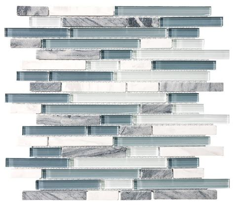 waterfall glass tile 10 square feet bliss waterfall random strip glass and
