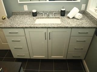 Semi Custom Bathroom Vanity by Semi Custom Vanity White Shaker Doors With Granite Top Bathroom New York