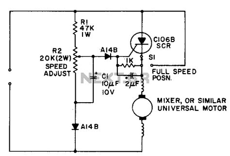 universal motor circuit diagram gt automations gt motor circuits gt universal motor