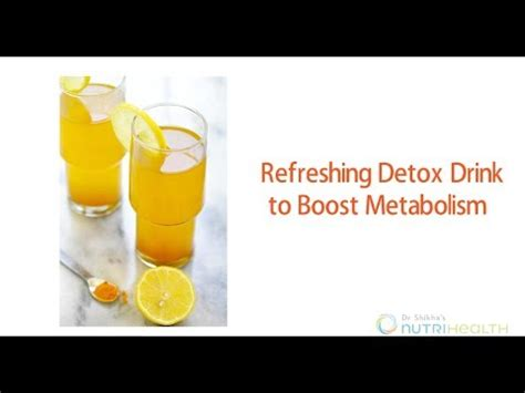 Detox Drink For Quitting by Refreshing Detox Drink To Boost Metabolism By Dr Shikha S
