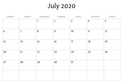 awesome july  calendar  word excel template calendar word printable calendar