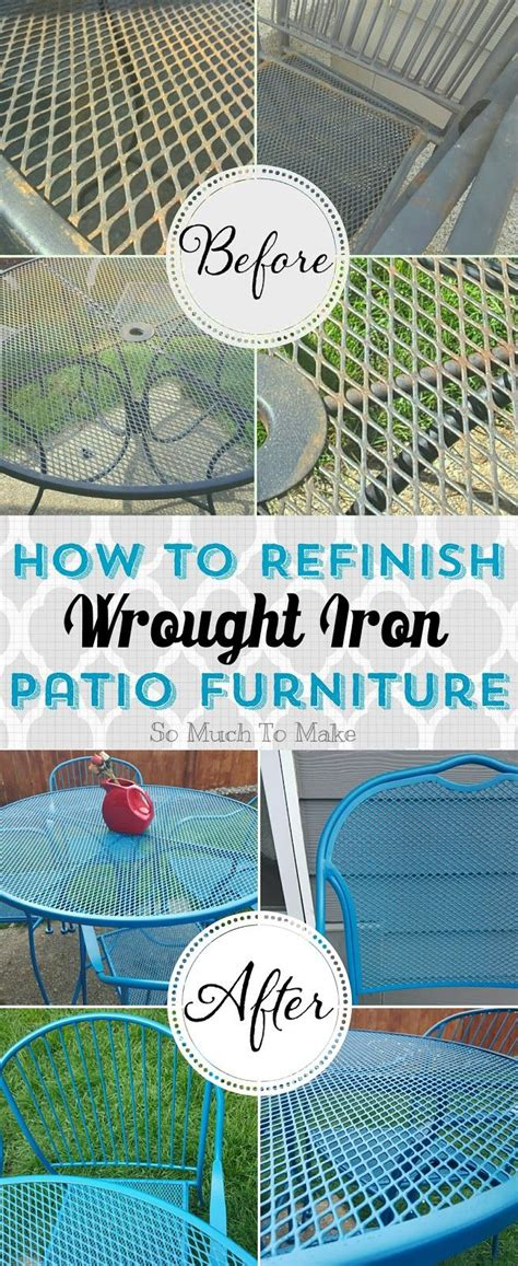 Refinish Iron Patio Furniture by Best 25 Painted Outdoor Furniture Ideas On