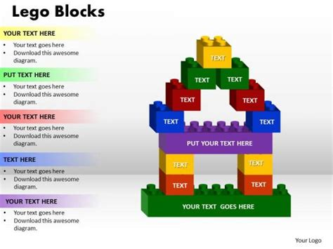 lego design for powerpoint powerpoint presentation lego blocks success ppt slide