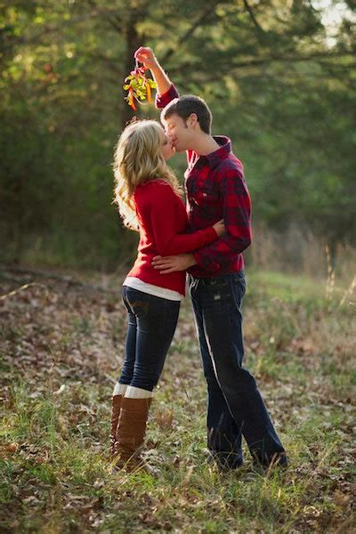 holiday inspired engagement photos bridalguide