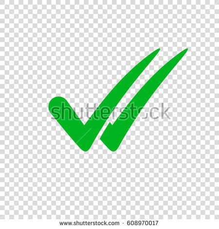 Green Check Transparent Background Check Icon On Transparent Background Stock Vector 608970017