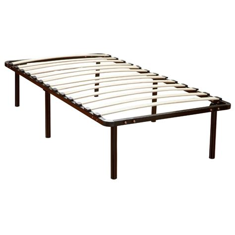 slate bed frame twin wood slat and metal bed frame in black 127007 5010