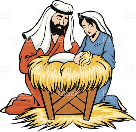 jesus clipart joseph and baby jesus stock vector more images