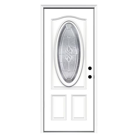 32 X 76 Exterior Door with 32 X 76 Exterior Door Shop Reliabilt Oval Lite Prehung Inswing Steel Entry Door Common 32 In X
