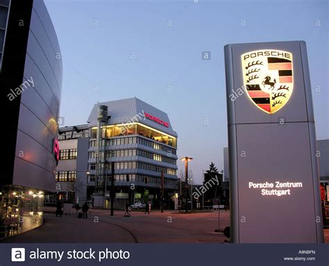 porsche headquarters porsche headquarters in stuttgart zuffenhausen stock photo