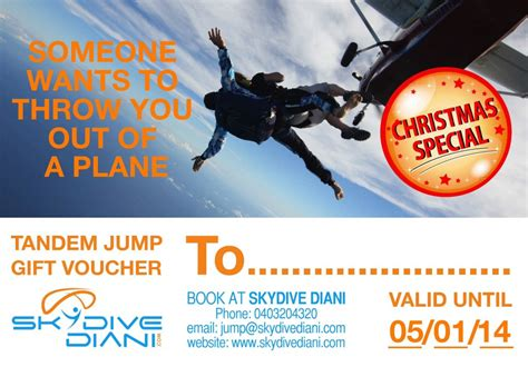 Skydiving Gift Voucher Gift Ftempo Skydiving Gift Certificate Template