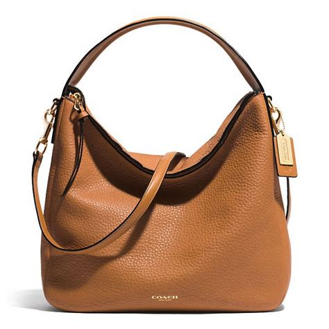The Coach Bleecker Tattersall Shopping Bag by Coach Bleecker Sullivan Hobo In Pebbled Leather