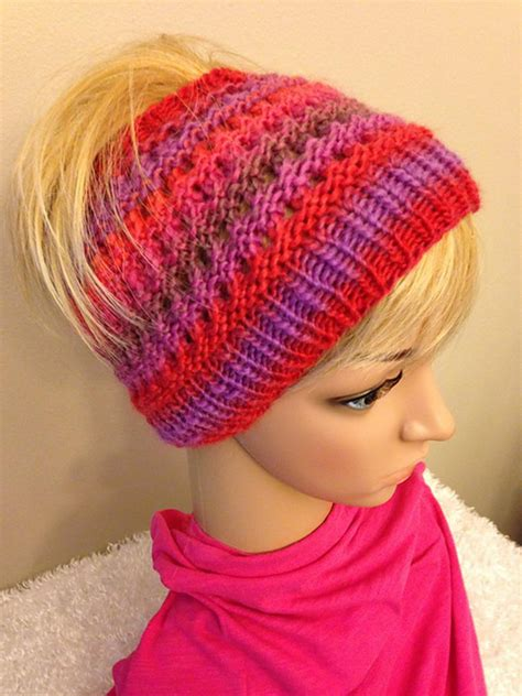 beanie hat knit knitting patterns bun beanie