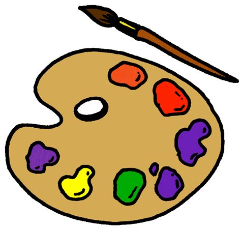 paint colors clipart palette clipart paint board pencil and in color palette