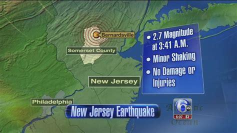 earthquake nj small earthquake shakes parts of new jersey 6abc com