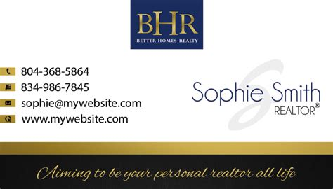 better homes realty business cards 12 business card template