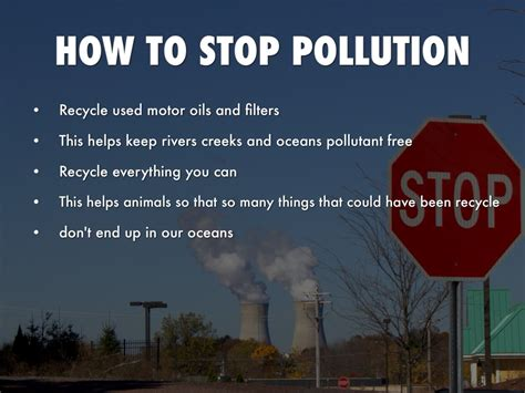 how to stop a from pollution by kennedy k