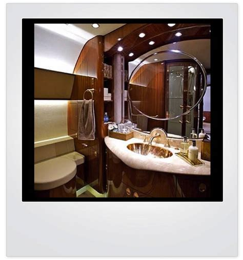 private plane bathroom haute pic of the day private jet vanity haute living