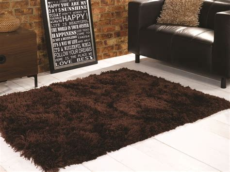 large brown shaggy rug brown shaggy 8 1cm thick luxury shag pile rug 3 large room sizes
