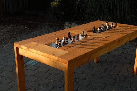 Patio Table Diy by Diy Patio Table With Built In Wine Coolers The