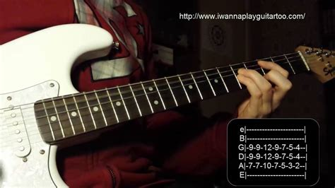 tutorial of guitar how to play seven nation army by the white stripes