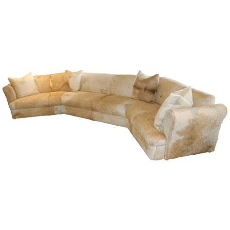 Cowhide Sofa Sale by Wonderful Cowhide Covered Large Curved Sofa From The Pond