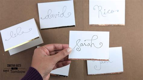 place cards diy diy holiday place cards tombow usa blog