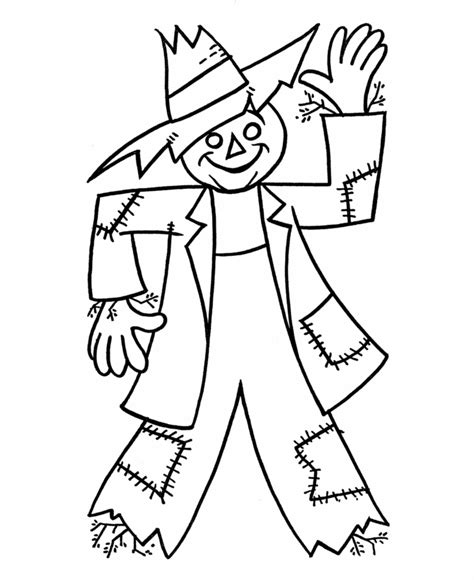 scarecrow coloring pages free printable scarecrow coloring pages for