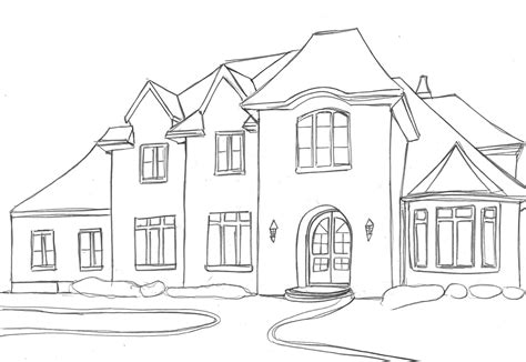 home design drawing houses house sketches basic outline drawing home
