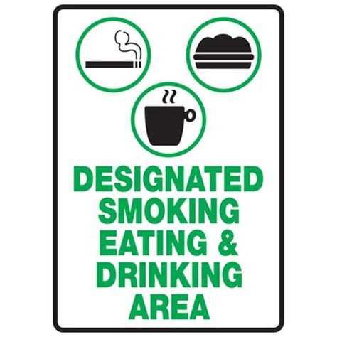 eating area designated smoking eating drinking area the nobutts
