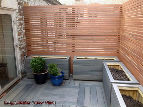 gramercy park composite roof top fence deck contemporary patio new york by city