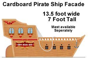 Cardboard Pirate Ship Template by Pirate S Cardboard Facade Pirate Treasure Ship