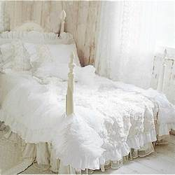 White Coverlet Set Aliexpress Buy 4pcs Set White Lace