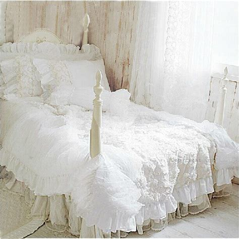 white lace bedding aliexpress com buy hot 4pcs set romantic white lace rose