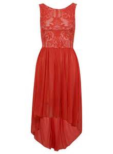red lace dress fashion picture